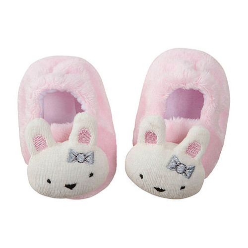 1-Pack Girls Bunny Velboa Booties