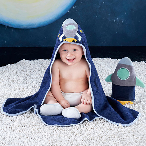Cosmo Tot Spaceship 4-Piece Bath Time Gift Set