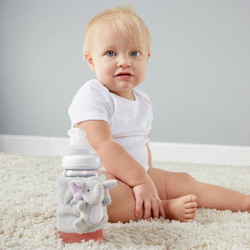 Little Peanut Elephant Bottle Buddy (Pink)