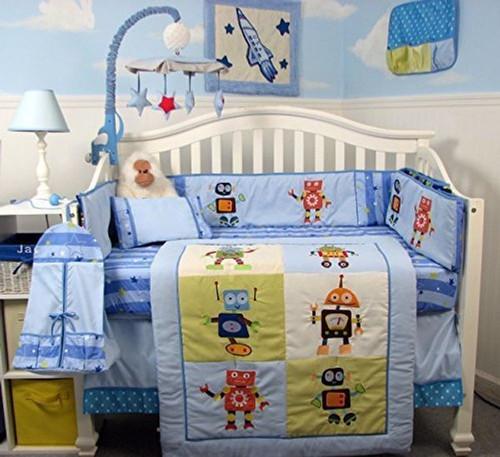 Mechanical Heroes Crib Bedding Set