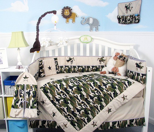 Camouflage Army Crib Bedding Set