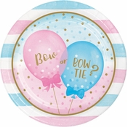 Gender Reveal Balloons Dinner Plates - 9""
