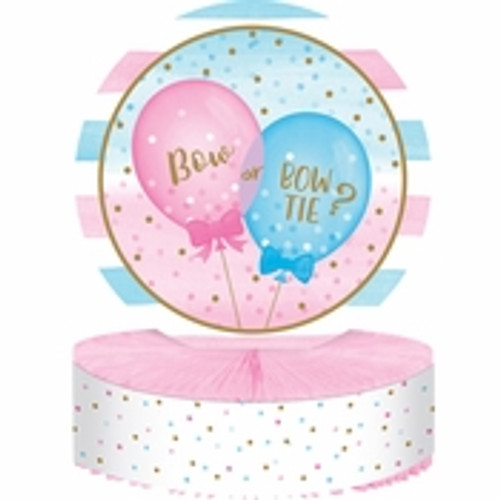 Gender Reveal Balloons Centerpiece