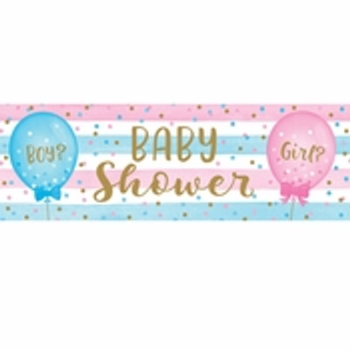 Gender Reveal Balloons Large Banner