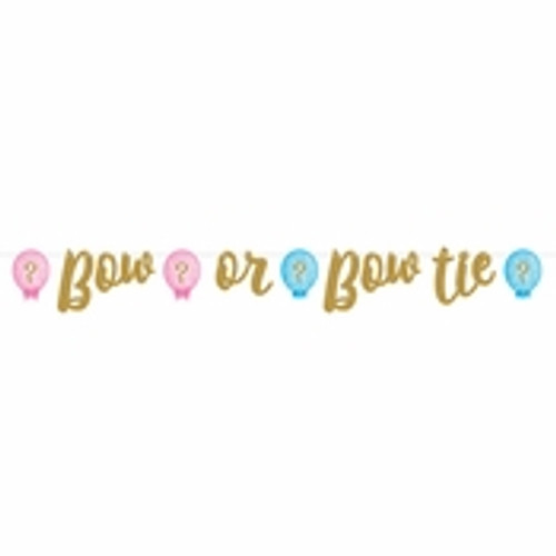 Gender Reveal Balloons Banner