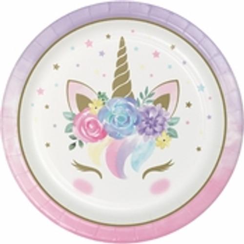 "Unicorn Baby Shower Dinner Plates - 9"""