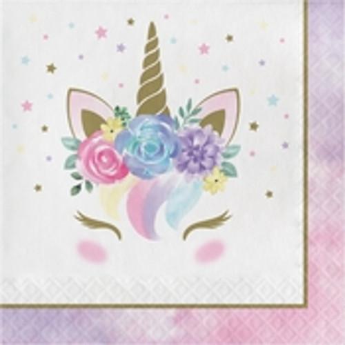 Unicorn Baby Shower Luncheon Napkins - Pastel
