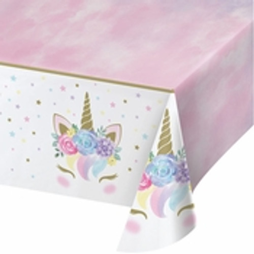 Unicorn Baby Shower Plastic Tablecloth