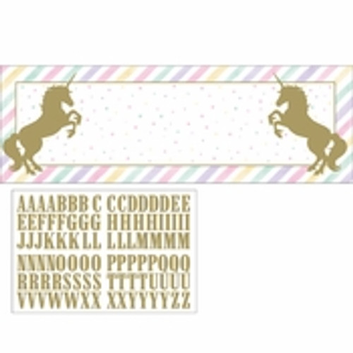 Unicorn Baby Shower Sparkle Banner