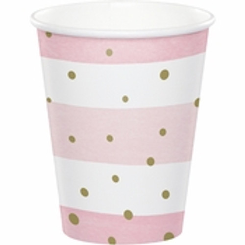 Pink/Gold Celebration Baby Shower Cups - 9oz