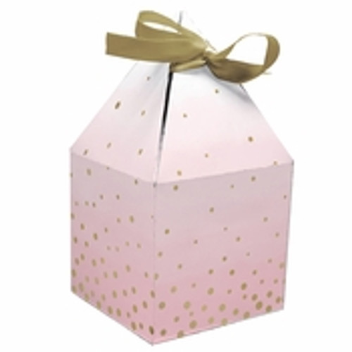 Pink/Gold Celebration Baby Shower Favor Boxes