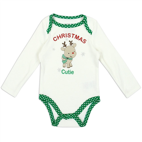 Unisex Newborn Holiday Creeper - Cutie