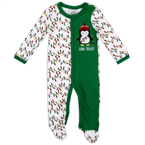 Unisex Newborn Interlock Holiday Coverall - Penguin