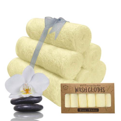 Deluxe Organic Bamboo Washcloths - Sunshine