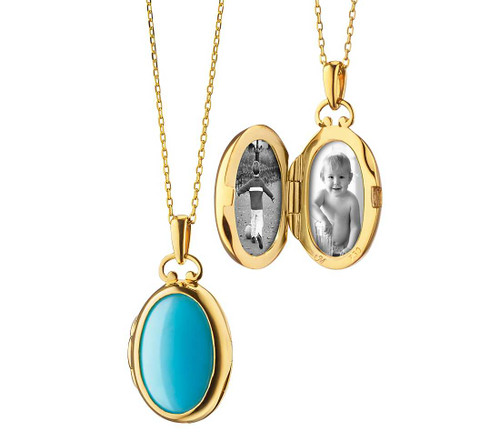 Turquoise and Mother of Pearl Locket