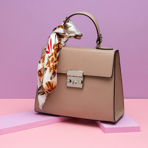 Leather Bag - Rose Pink
