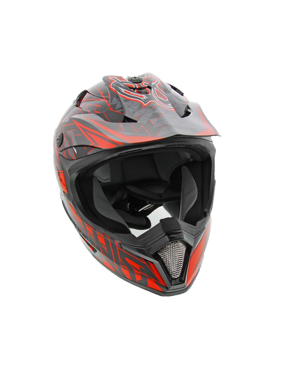 204110b8 ... Cyclone ATV MX Motocross Dirt Bike Off-Road Helmet DOT/ECE Approved- Red  · https://images.czchainsusa.com/wp-content/uploads/