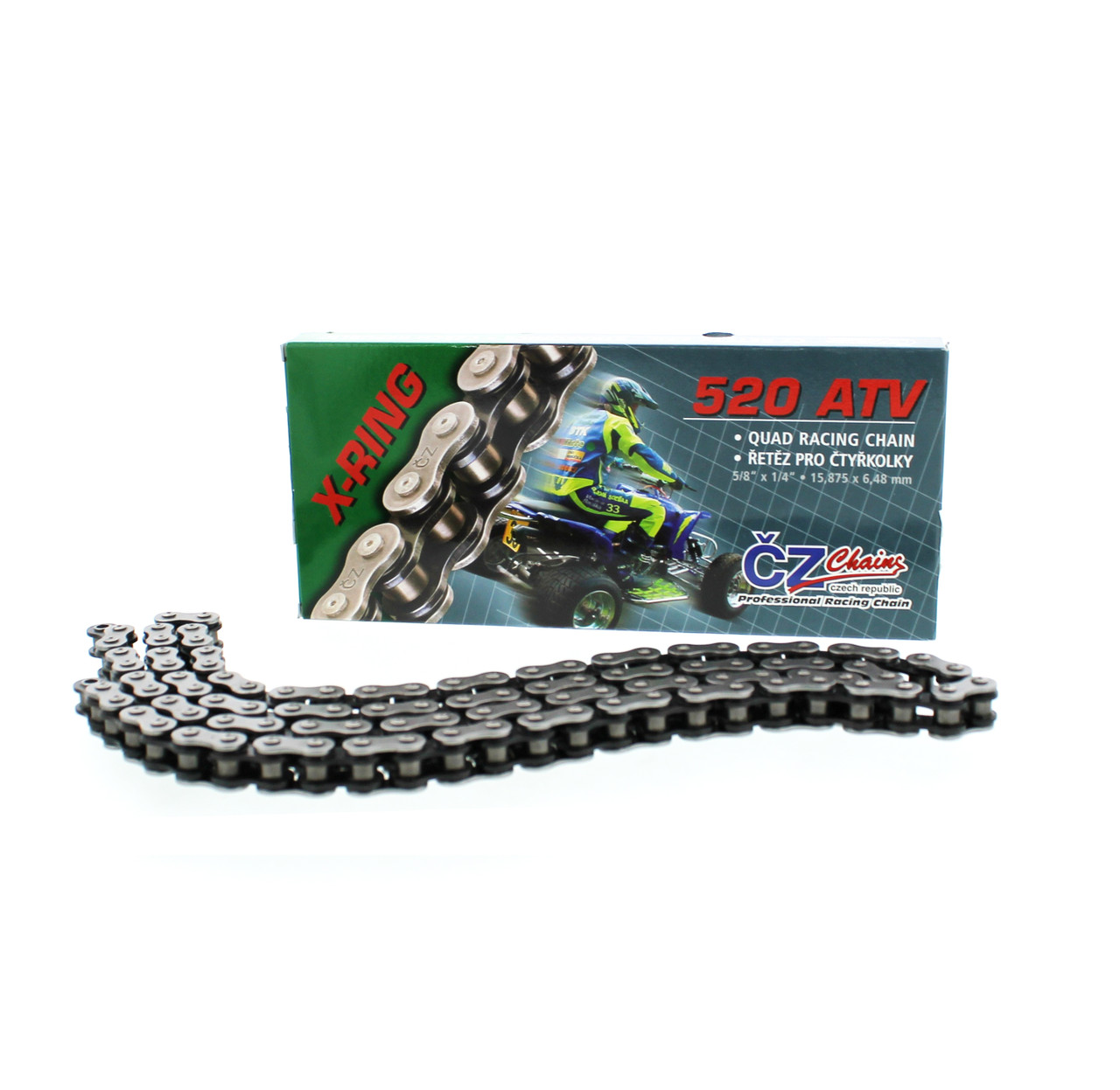 2000 2001 Polaris Scrambler 400 4X4 Rear O-Ring Chain 520-76L