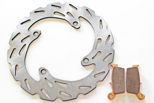 2004-2005 Kawasaki KX250F Front And Rear Brake Pads And Sport Brake Rotors