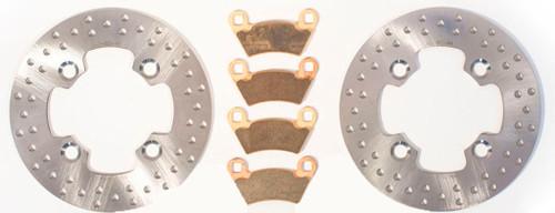 RipTide Rear Brake Rotors /& MudRat Brake Pads 2011-2013 Polaris RZR XP 900 Razor
