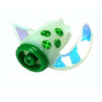 Dreamweaver WhirlyGig Green Glow 1 1/4''