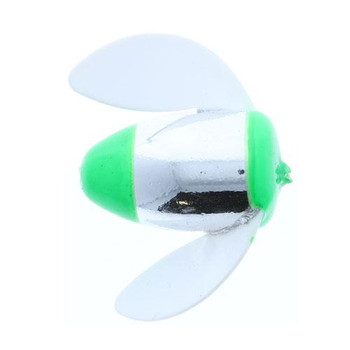 Worden's Spin N Glo Large Dbl Trouble Grn White 2-1/4''