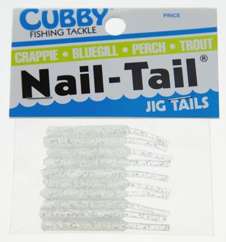 Cubby Nail Tail Clear Chart w/Glitter 1-3/4''