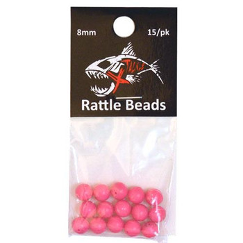 Xtackle Rattle Beads Hot Pink 6mm