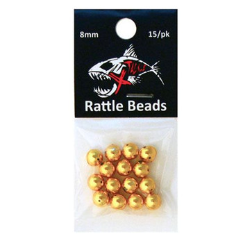Xtackle Rattle Beads Gold 8mm