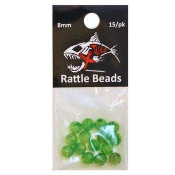 Xtackle Rattle Beads Lime Green 8mm