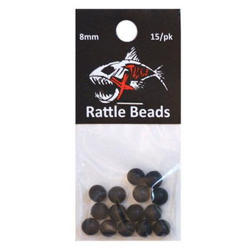 Xtackle Rattle Beads Black 8mm