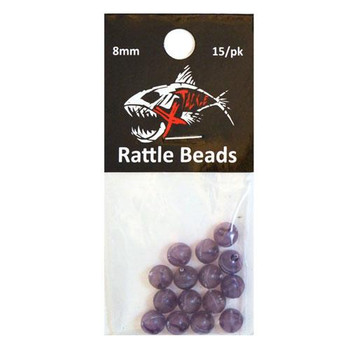 Xtackle Rattle Beads Purple 8mm