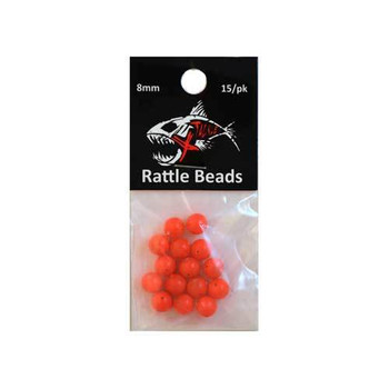 Xtackle Rattle Beads Fire Orange 8mm