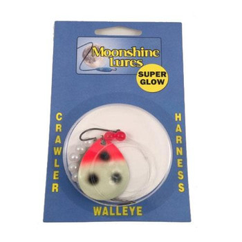 Moonshine Lures Crawler Harnesses Glow Bloody Nose Indiana Blade