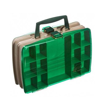 Plano Magnum 2 Sided Tackle Box Green/Clear 12'' x 8''