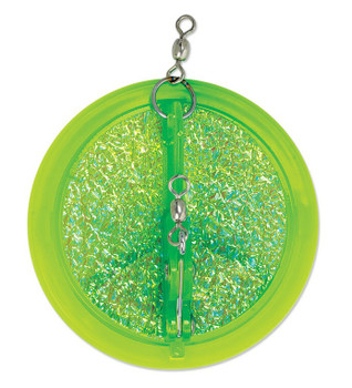 Luhr Jensen Dipsy Diver Fish Candy Chartreuse UV 3