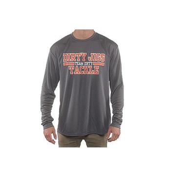 Dirty Jigs Tackle Long Sleeve Performance Shirt Charcoal XL