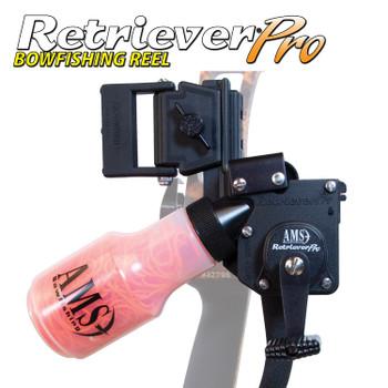 AMS Bowfishing Retriever Pro Black - 25yd/200lb RH
