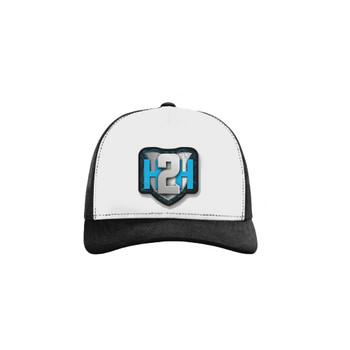 H2H Patch Caps White/Black OSFA