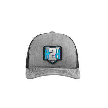 H2H Patch Caps Heather Grey/Black OSFA