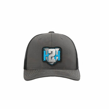 H2H Patch Caps Grey/Black OSFA