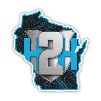 "H2H Wisconsin Proud Sticker 7"""