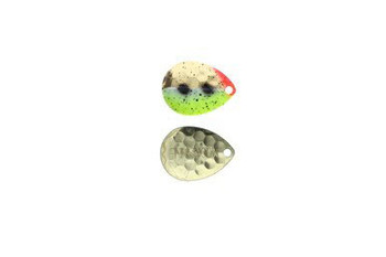 Moonshine Lures Brass Blades 3 Pack Yeller Goby #4