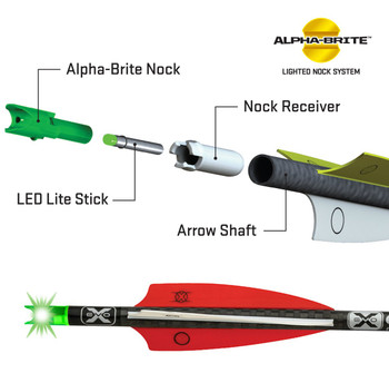 TenPoint Alpha-Brite Lighted Nock System 3 pk Red