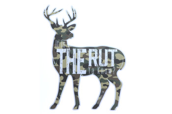 "It Is The Rut Ya Know? Sticker"" - Camo"