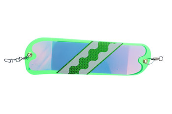Salmon Candy 8in Flashers Green UV