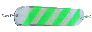 Salmon Candy 8in Flashers Chrome Green Barber Shop