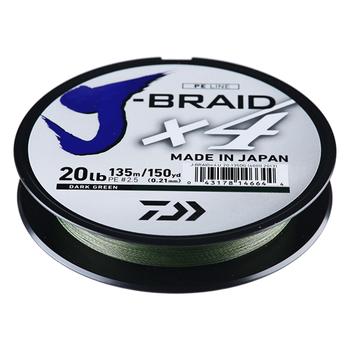 Daiwa J Braid X4 Line 150 yd Spool Dark Green 8lb
