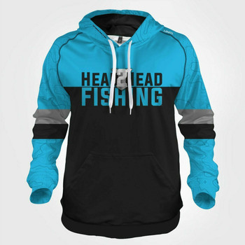 H2H SilkSeries Hoodies Blue H2H 4XL