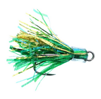 Salmon Candy Coho Flies 2 Pack Green Gold 2 Inch